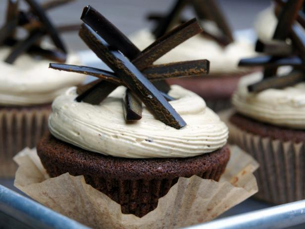 Gingerbread Cupcakes with Black Licorice Frosting