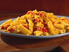 Cooking Channel serves up this Rigatoni with Red Pepper, Almonds, and Bread Crumbs recipe from Giada De Laurentiis plus many other recipes at CookingChannelTV.com