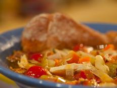 Cooking Channel serves up this BLT Chicken Soup recipe from Rachael Ray plus many other recipes at CookingChannelTV.com