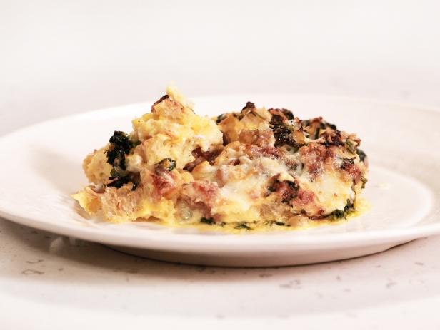 The Ultimate Breakfast for Dinner: Sausage and Spinach Egg Strata