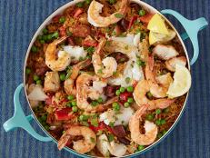 Cooking Channel serves up this Make-Ahead Paella Casserole recipe from Rachael Ray plus many other recipes at CookingChannelTV.com