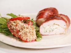 Cooking Channel serves up this Stuffed Chicken Saltimbocca with Arugula and Tomato Salad recipe from Rachael Ray plus many other recipes at CookingChannelTV.com
