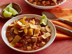 Cooking Channel serves up this Mexican Chorizo and Turkey Chili recipe from Rachael Ray plus many other recipes at CookingChannelTV.com