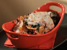 Cooking Channel serves up this Lazy Lasagna with Lamb Ragu, Spinach and Ricotta recipe from Rachael Ray plus many other recipes at CookingChannelTV.com