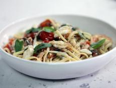 Cooking Channel serves up this Cherry Tomato Fra Diavolo Sauce, Seafood and Pasta recipe from Rachael Ray plus many other recipes at CookingChannelTV.com