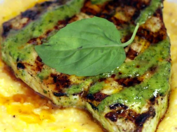 Grilled Swordfish and Grits