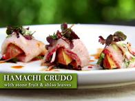 Marinated Hamachi with Stone Fruit