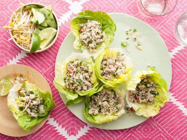 Spicy Chicken Lettuce Wraps (Larb Gai)
