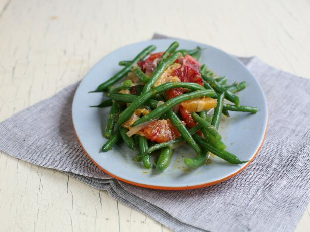 Green Beans with Blood Orange and Tangerine Dressing