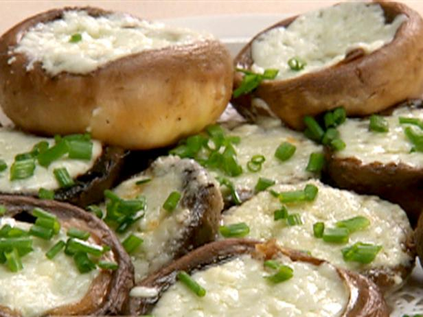 Stuffed Mushroom Caps with Blue Cheese Souffle