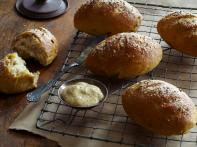 Caramelized Onion Pretzel Rolls with Caraway...
