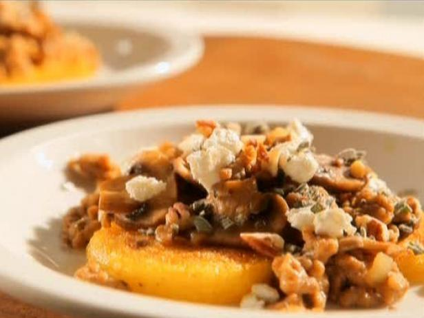 Polenta with Sausage and Mushrooms