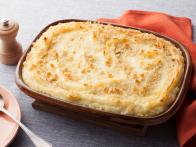 Baked Mashed Potatoes with Parmesan Cheese and...