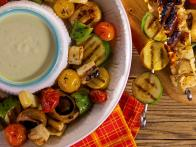 Marinated Veggie Kebabs with Halloumi Cheese