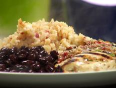 Cooking Channel serves up this Salsa Marinated Chicken with Mexican Rice recipe from Rachael Ray plus many other recipes at CookingChannelTV.com