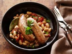 Cooking Channel serves up this Turkey Sausages with Spicy Beans : Sausages with Fagioli All'uccelletta recipe from Debi Mazar and Gabriele Corcos plus many other recipes at CookingChannelTV.com