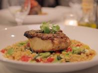 Wild Striped Bass with Favas and Couscous