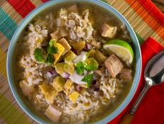 Cooking Channel serves up this Pork and Poblano Soup recipe from Kelsey Nixon plus many other recipes at CookingChannelTV.com