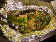 Whole Grilled Parrot Fish
