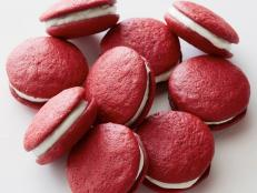 Cooking Channel serves up this Red Velvet Whoopie Pies recipe  plus many other recipes at CookingChannelTV.com
