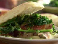 Pork and Broccoli Rabe Ciabatta Subs