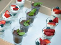 Shot Glass Apps: Mint Chocolate Pudding