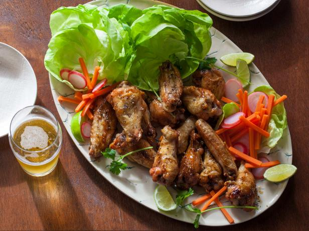 Peppery Vietnamese Chicken Wings with Quick Vegetable Pickles
