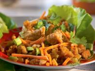 Spicy Ginger Chicken in Lettuce Cups