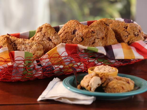Pumpkin-Cranberry Scones with Whipped Maple Butter