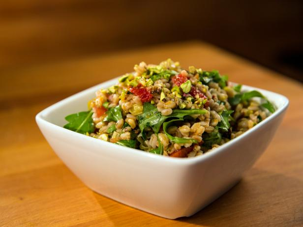 Chilled Farro Salad with Blood Orange and Roasted Leeks