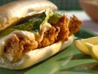 Deep-fried Oyster Po' Boy Sandwiches with Spicy...