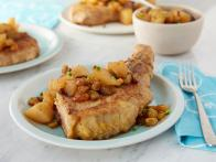 Chicken Fried Pork Chops with Chunky Pear Chutney