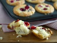 Cranberry and Golden Raisin Cream Muffins