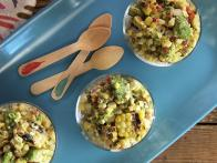 Charred Corn Salad with Creamy Tomatillo...