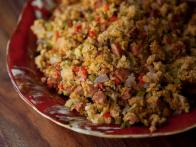 Andouille Sausage and Pepper Cornbread Stuffing