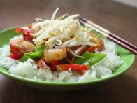 Miso-Honey Shrimp Stir Fry