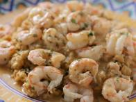 Shrimp Scampi with Chickpea Mash