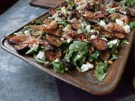 Roasted Fig Salad with Goat Cheese, Prosciutto...