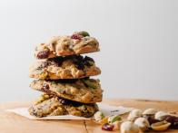 Dark Chocolate, Cranberry, Oat and Pistachio Cookies