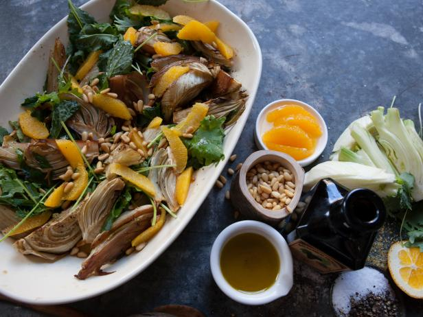 Roasted Fennel with Oranges and Greens