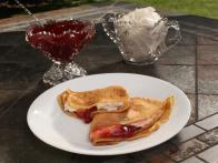 Aslaug Warmboe's Icelandic Crepes Filled with Whipped Cream and Strawberry Jam