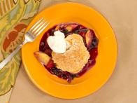 Skillet Blueberry-Peach Cobbler