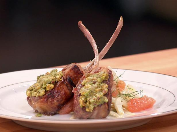 Seared Rack of Lamb with Pistachio Tapenade