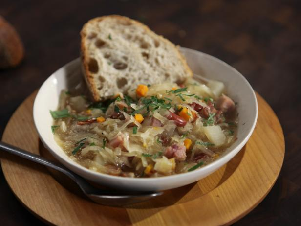 Ham, Bean and Bacon Soup with Sauerkraut