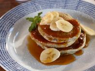 Blue Corn Pancakes with Piloncillo Syrup and Passion Fruit Butter