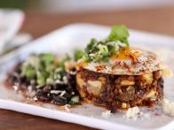 Chorizo-Potato Hash Browns with Black Beans and...