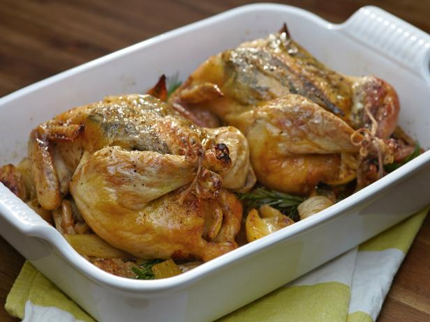 Roast Chicken Stuffed with Lemon and Rosemary