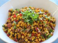 Ginger and Coriander Corn Salad