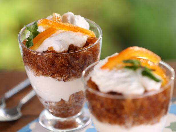 Moroccan Coffee Granita with Orange Water Cream Parfait