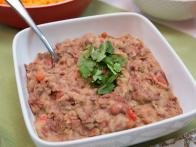 Refried Beans with Pickled Jalapenos